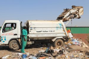 At the waste transfer station in Khartoum North